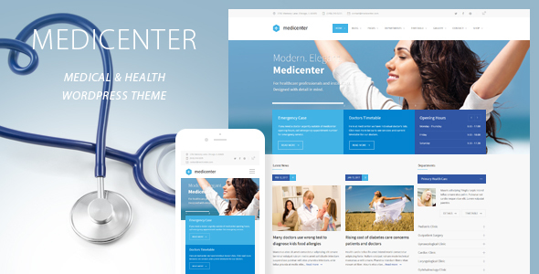 MediCenter - Health Medical Clinic WordPress Theme by QuanticaLabs