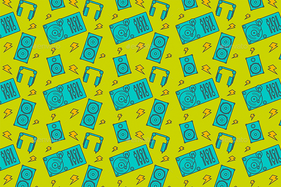 Funny Music Pattern Backgrounds by themefire GraphicRiver