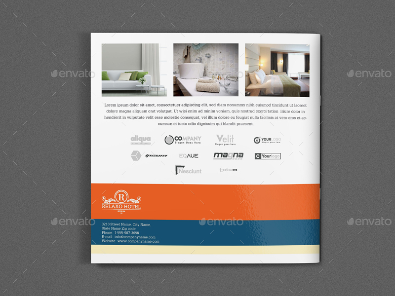 Hotel and Motel Brochure Template Vol2 - 12 Pages by OWPictures