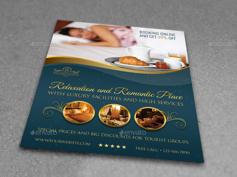 Hotel Flyer Template Vol2 by OWPictures GraphicRiver - hotel brochure template