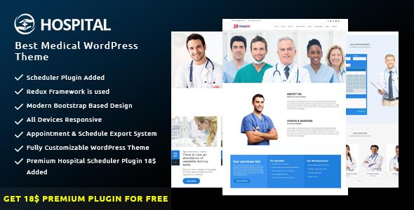 Hospital - Best Medical WordPress Theme by bdtask ThemeForest