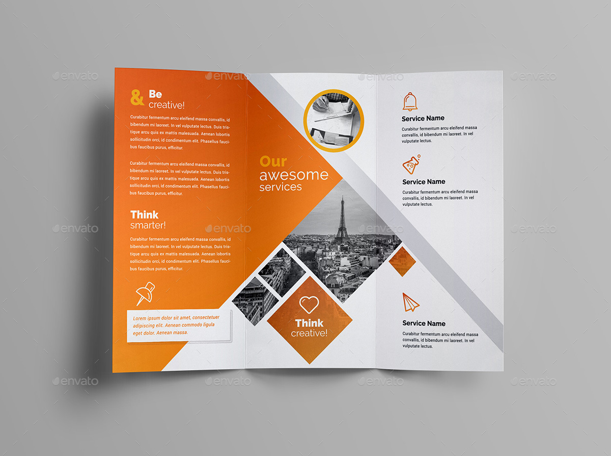 3 folded brochure template