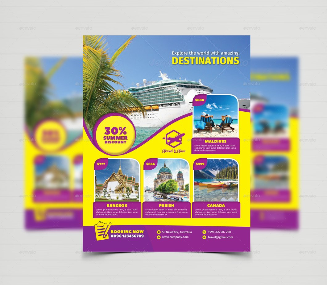 Tour Flyer Template Find Your World