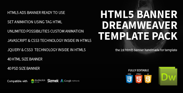 HTML5 Banner Dreamweaver Bundle Template by on3-step CodeCanyon - html5 template tag