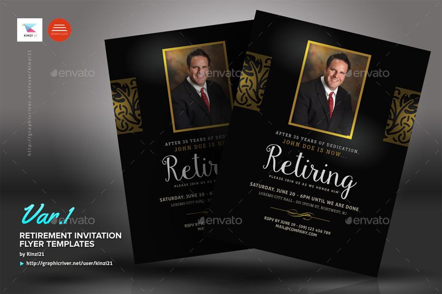 Retirement Invitation Flyer Templates By Kinzi21