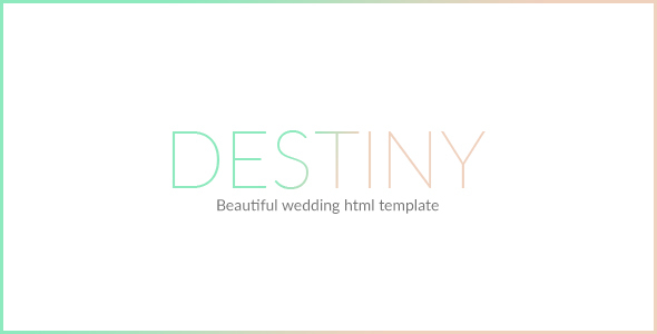 DESTINY - WEDDING HTML TEMPLATE by mutationthemes ThemeForest - wedding template