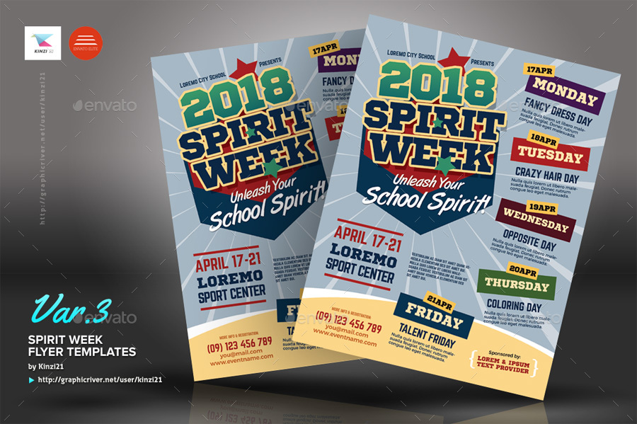 spirit week flyers - Onwebioinnovate