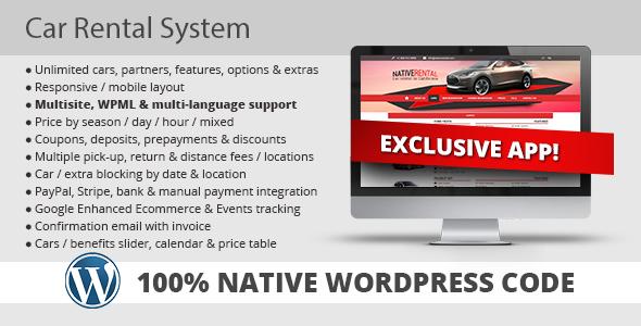 Car Rental System (Native WordPress Plugin) by KestutisIT CodeCanyon