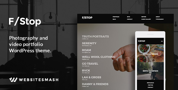 FStop - Photography  Video Portfolio WordPress Theme by WebsiteSmash