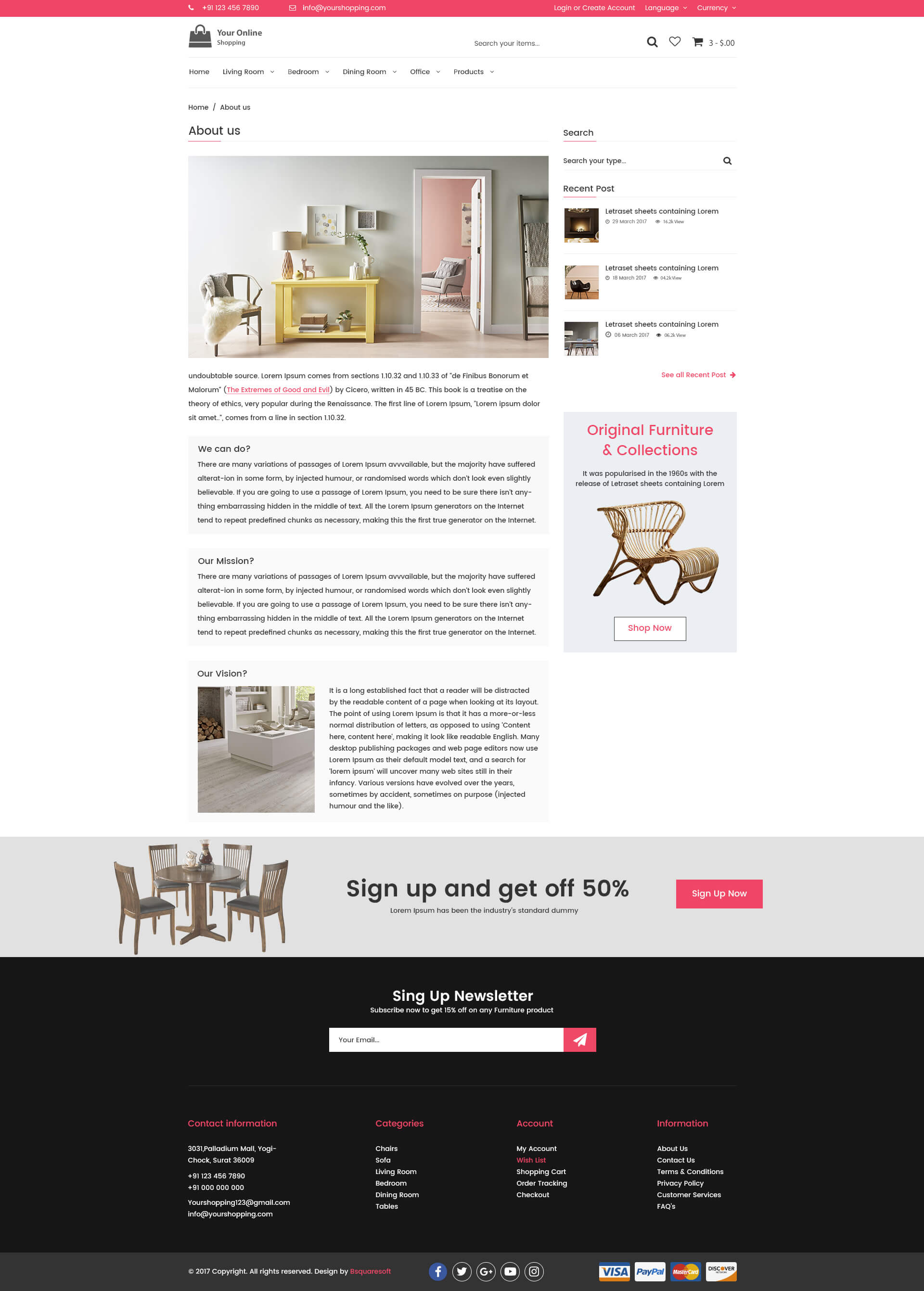 Design Shop Online Online Shopping Ecommerce Psd Template