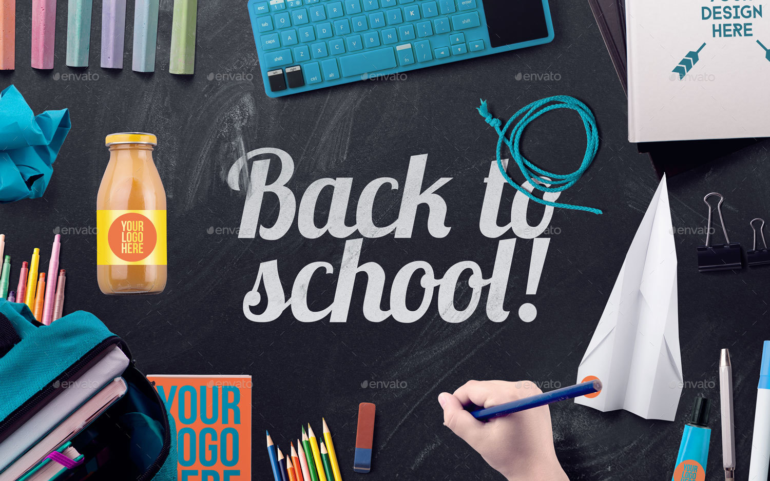Back To School Mockups And Hero Image Scene Generator By