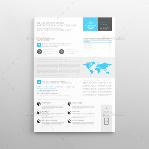 Executive Summary Template A4 by Keboto GraphicRiver