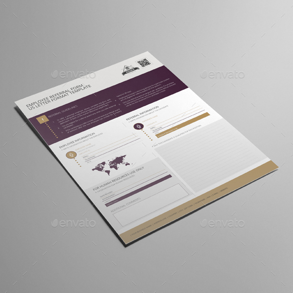 Employee Referral Form US Letter Template by Keboto GraphicRiver - employee referral form