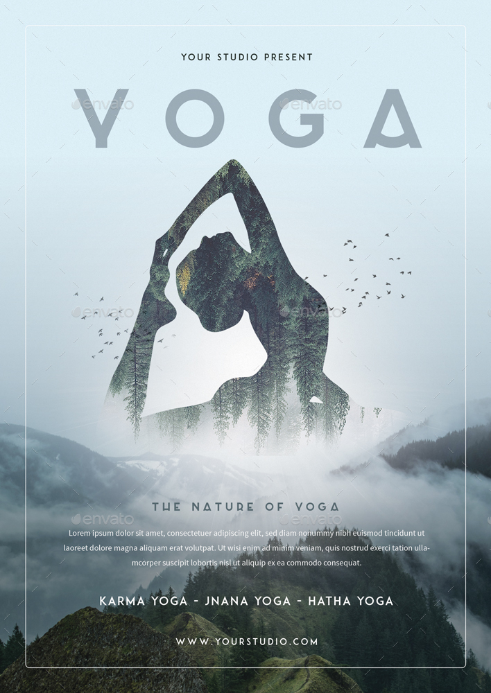 Yoga Flyer 3 by MONOGRPH GraphicRiver - yoga flyer