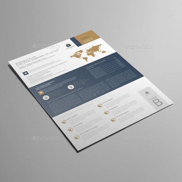 Business Plan Executive Summary US Letter by Keboto GraphicRiver - executive summary of a business plan
