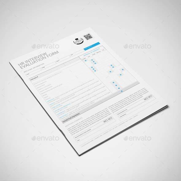 HR Interview Evaluation Form Template US Letter by Keboto - hr evaluation form