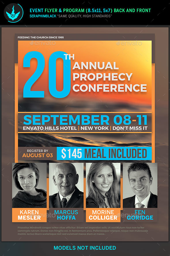 Annual Prophecy Conference Flyer Template by SeraphimBlack