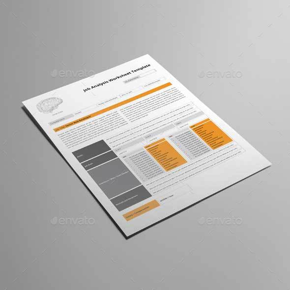 Job Analysis Worksheet Template By Keboto Graphicriver Job Analysis