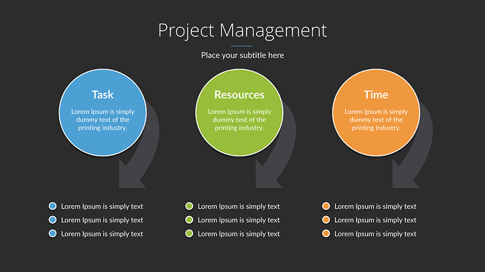 Project Management Keynote Presentation Template by SanaNik - Presentation Project
