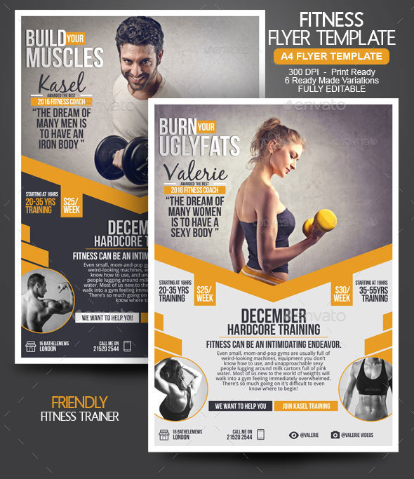 Fitness Flyer by BloganKids GraphicRiver