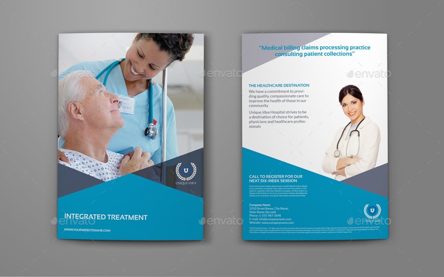 Medical Care Bi-Fold Brochure Template by OWPictures GraphicRiver