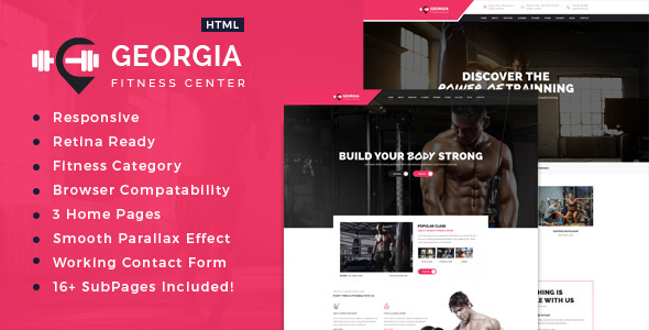 Georgia Sports, Health, Gym  Fitness HTML Template by template_path