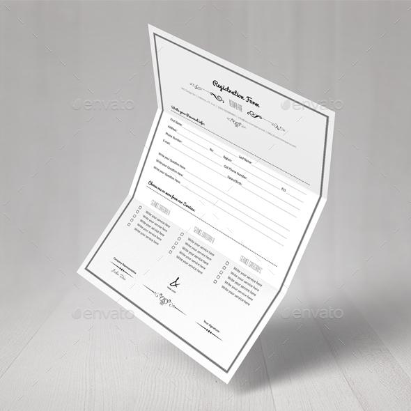 Registration Form Template by Keboto GraphicRiver