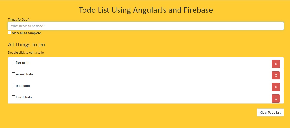 Todo List Using AngularJs and Firebase by monsterscript CodeCanyon