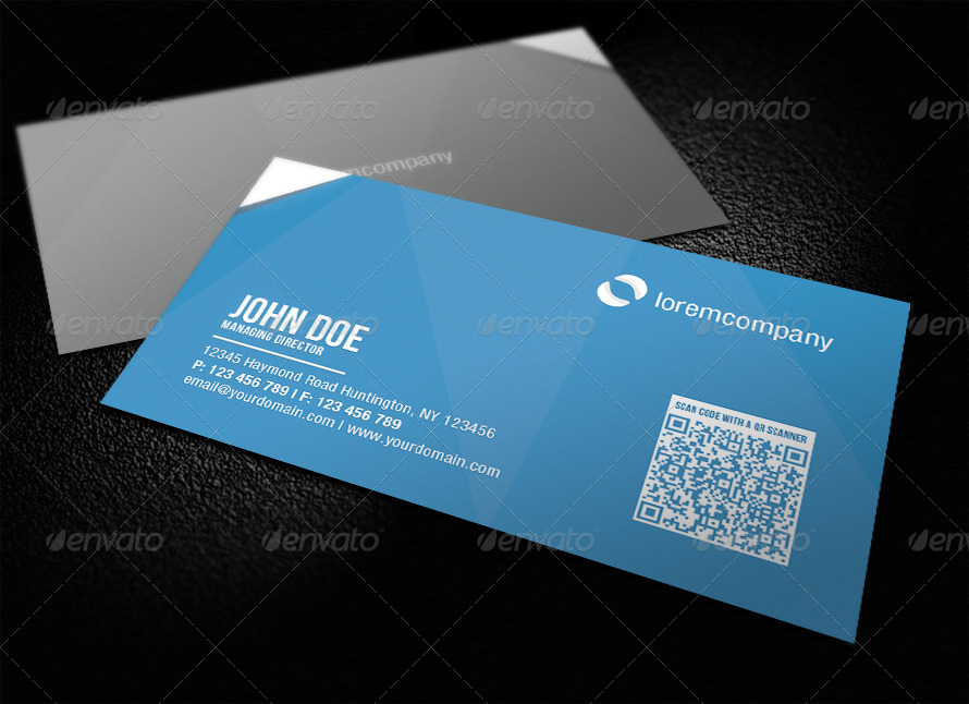 Corporate QR Code Business Card by glenngoh GraphicRiver