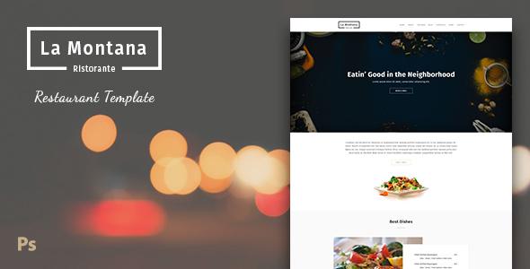 LaMontana - Restaurant PSD Template by GomalThemes ThemeForest - neighborhood website templates