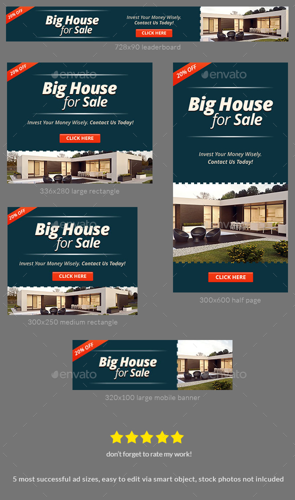 Property For Sale Banner Ad Template by admiral_adictus GraphicRiver