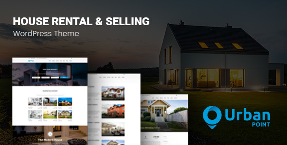 UrbanPoint - House Selling  Rental WordPress Theme