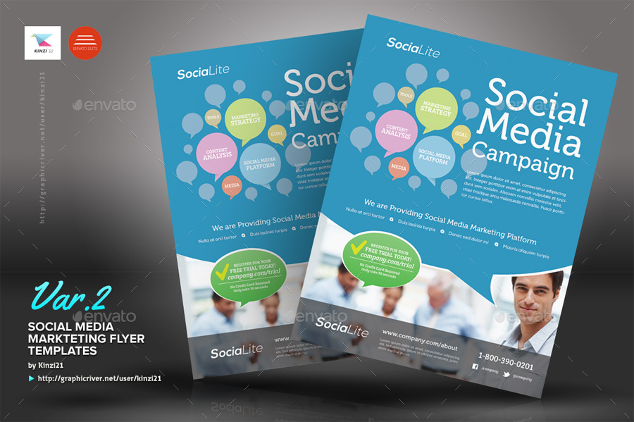 Social Media Marketing Flyer by kinzi21 GraphicRiver - marketing flyer