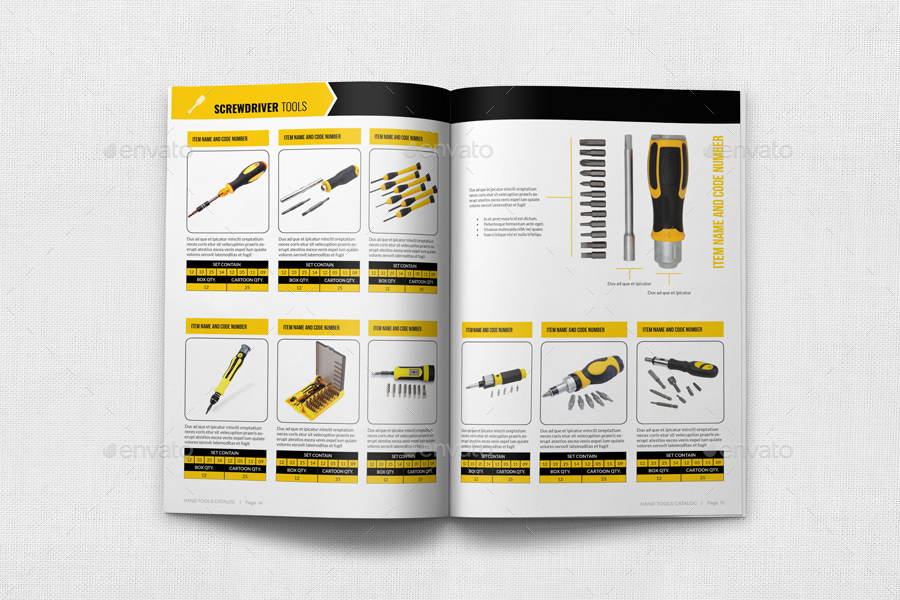 Hand Tools Products Catalog Brochure Template - 24 Pages by OWPictures - Product Brochure Template