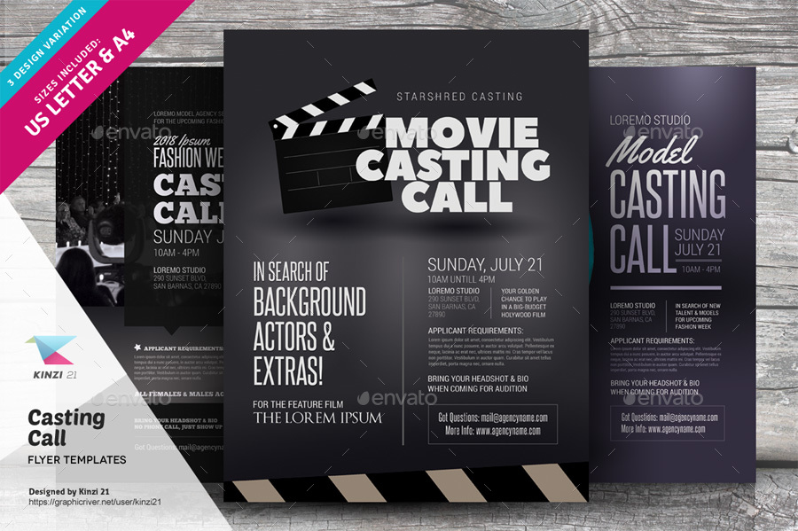 casting flyers - Goalblockety - auditions flyer template