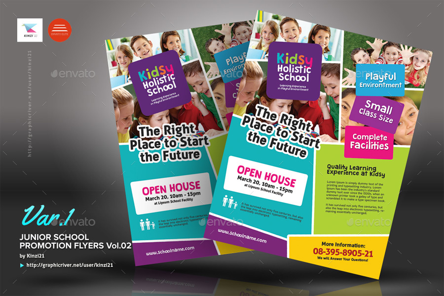 Junior School Promotion Flyers Vol02 by kinzi21 GraphicRiver - promotion flyer