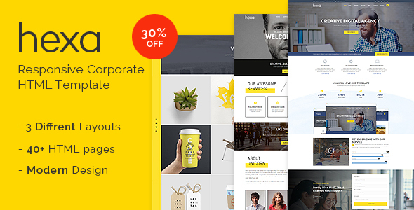 Hexa - Responsive Multipurpose Corporate/Creative HTML Template by