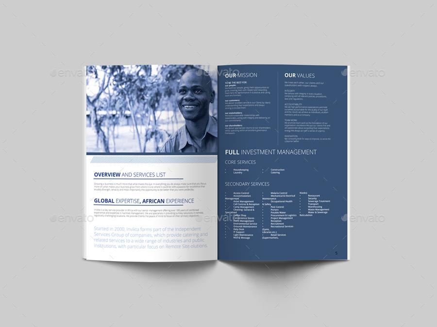 Invikta Clean Corporate Brochure Template by evolysdigital - corporate flyer template