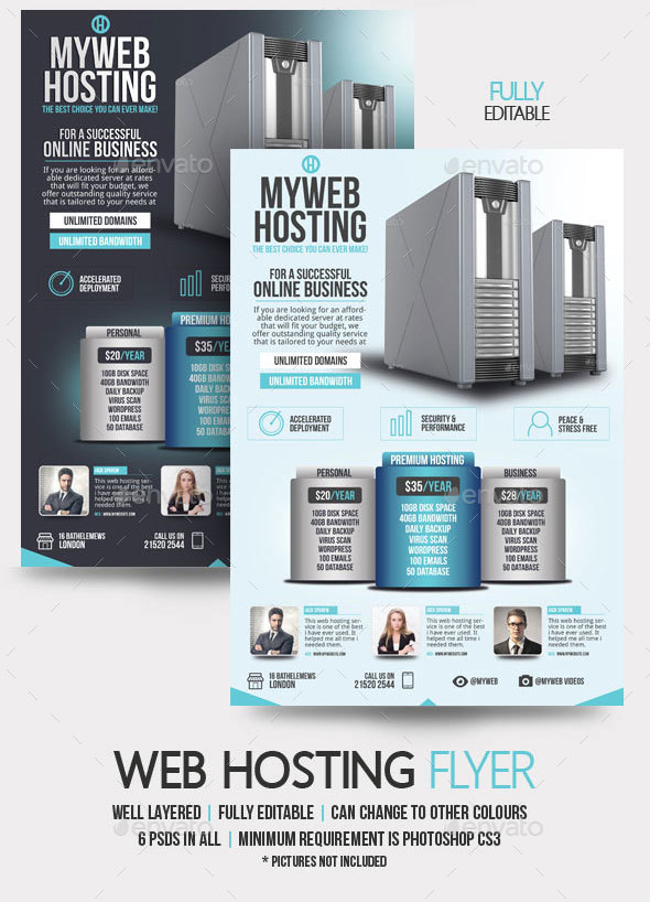 Web Hosting Flyer Template by BloganKids GraphicRiver - web flyer template