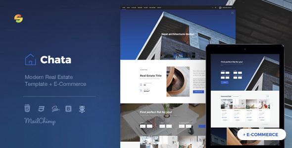 Chata - Modern Real Estate / Architecture Template + E-Commerce by suelo