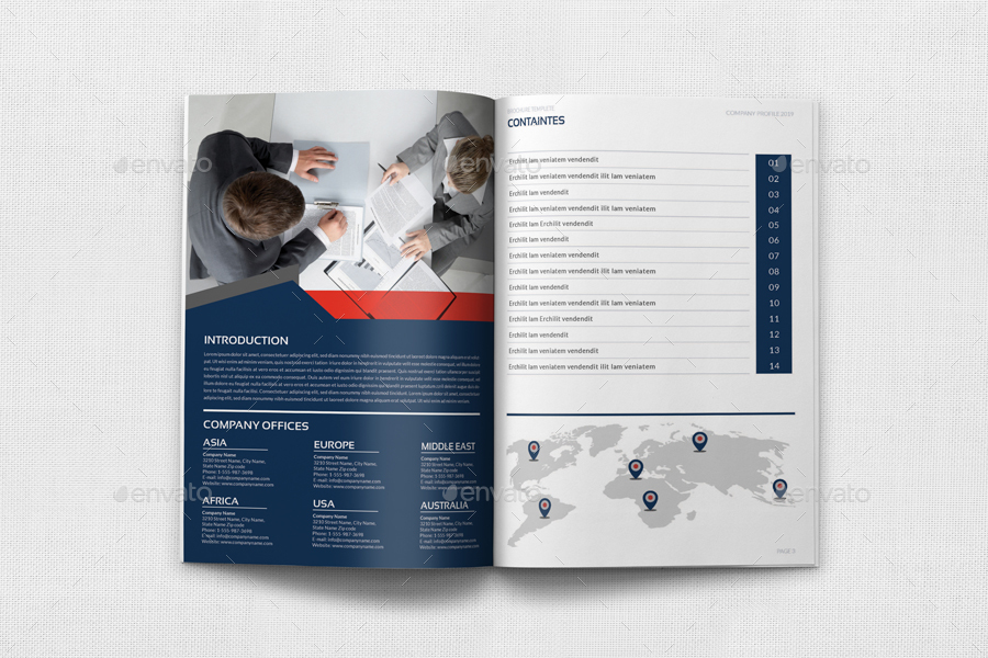 Company Profile Brochure Template Vol44 -12 Pages by OWPictures - Company Brochure Templates