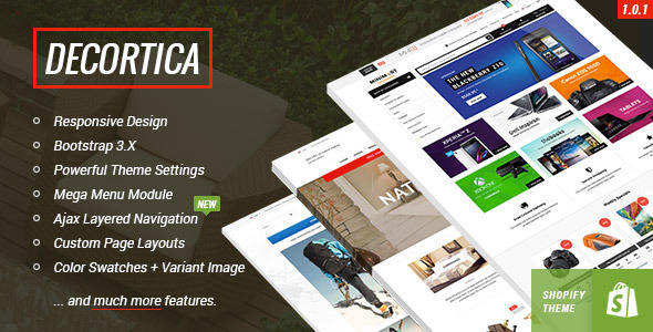 DECORTICA - Responsive Shopify Template by halothemes ThemeForest - shopify template