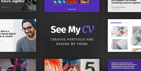 See My CV - Resume  vCard WordPress Theme by cmsmasters ThemeForest - my cv resume
