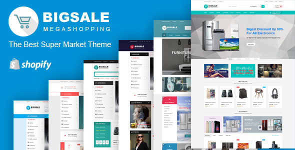 Bigsale \u2013 Responsive Ecommerce Shopify Template by typostores - shopify template