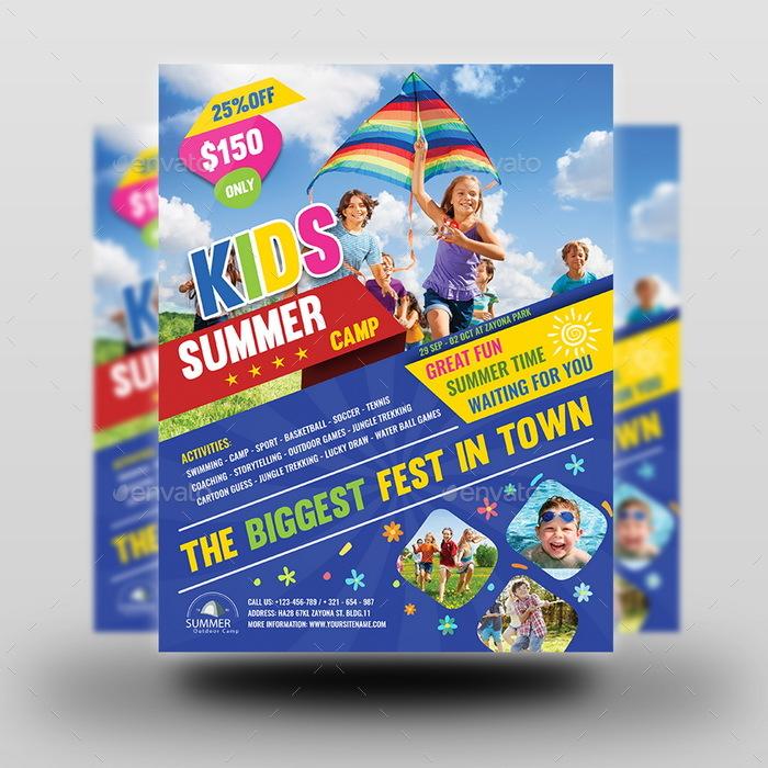 summer camp flyer design - Funfpandroid