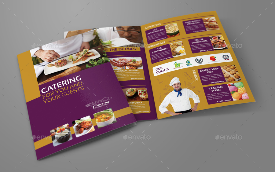 Catering Bi-Fold Brochure Template