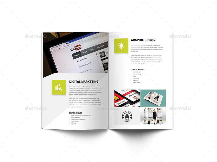 Digital Marketing Brochure by giantdesign GraphicRiver - marketing brochure