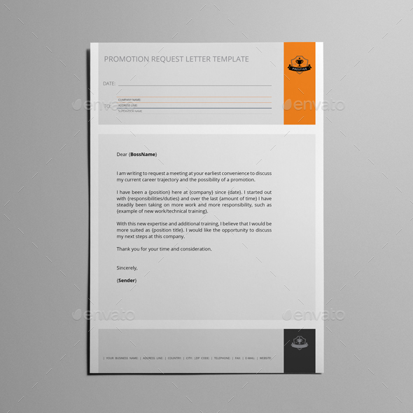 Promotion Request Letter Template by Keboto GraphicRiver