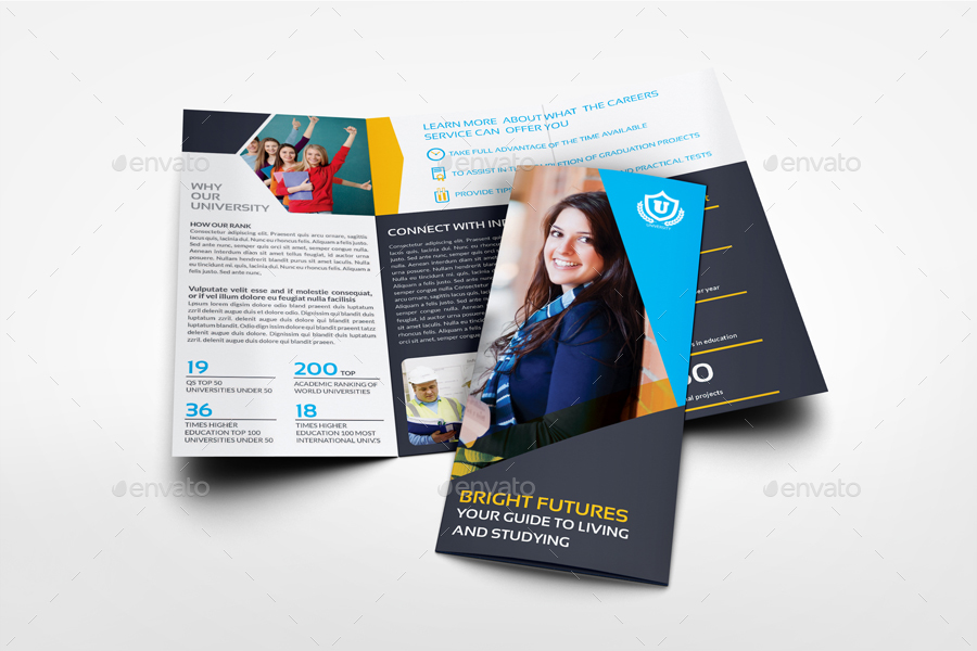 University - College Tri- Fold Brochure Template by OWPictures