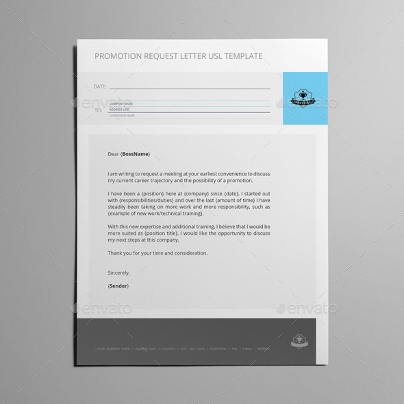 Promotion Request Letter USL Template by Keboto GraphicRiver - request for promotion consideration